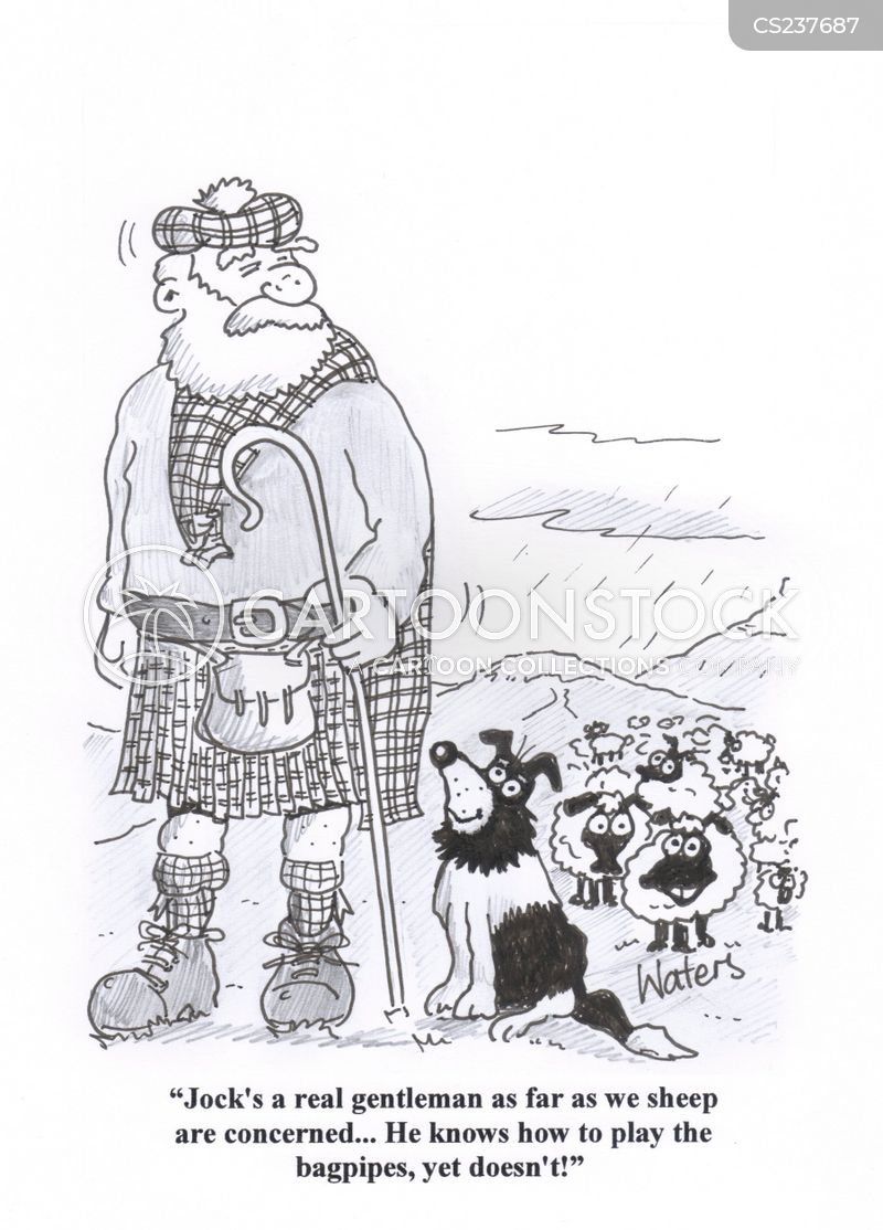 playing bagpipes cartoon