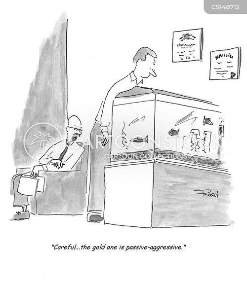 passive agressive cartoon