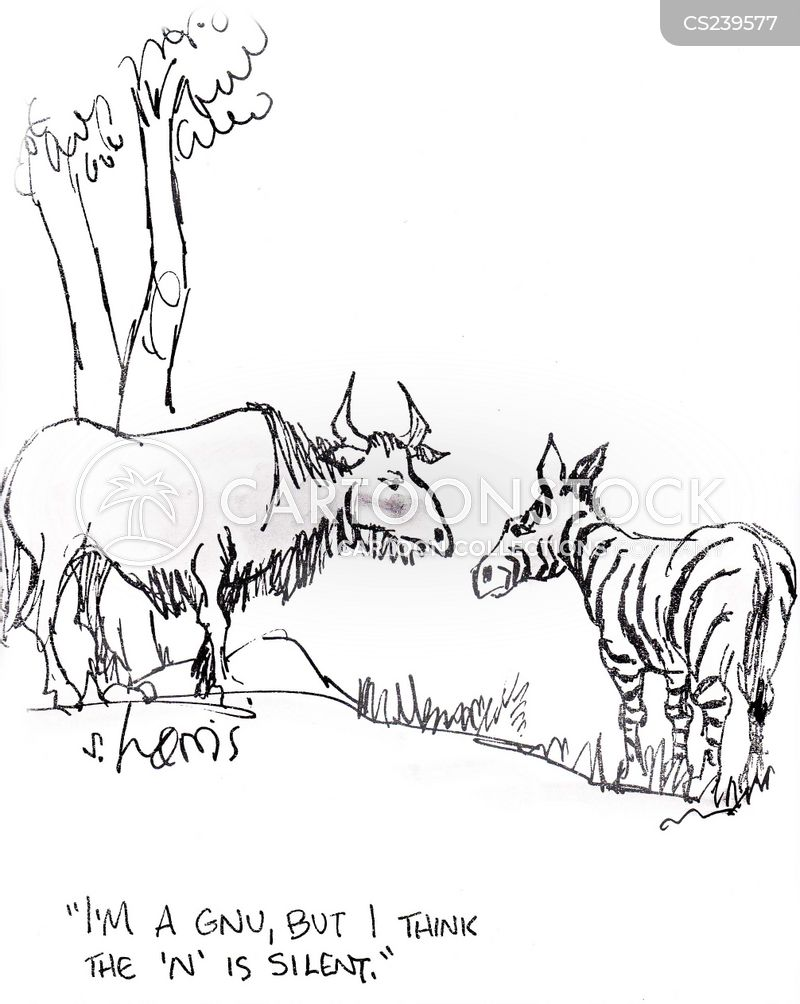 Gnu cartoons, Gnu cartoon, funny, Gnu picture, Gnu pictures, Gnu image, Gnu images, Gnu illustration, Gnu illustrations