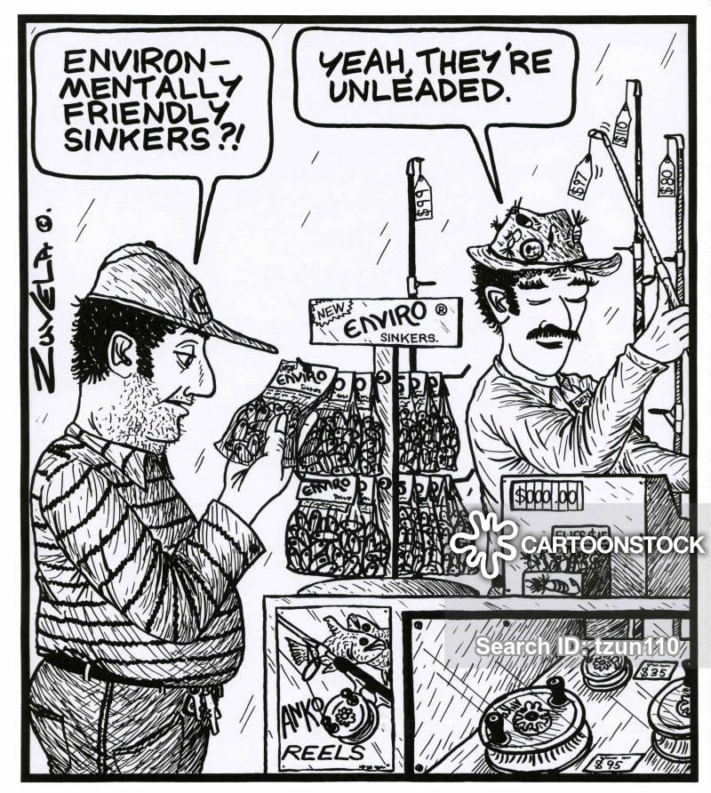 tackle store cartoon
