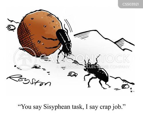 pointless task cartoon
