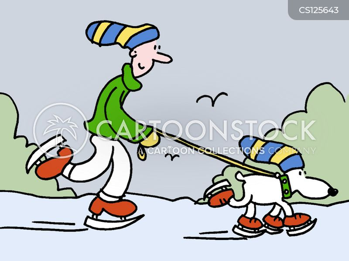 iceskates cartoon