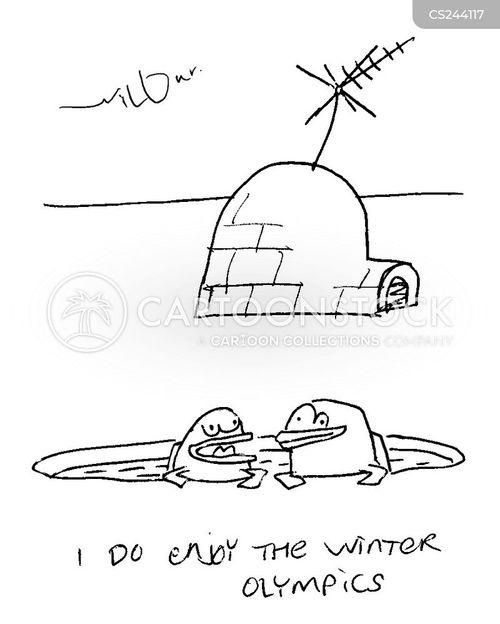 ski-er cartoon