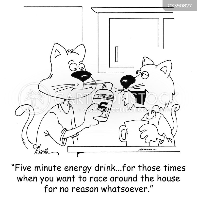 energy drink cartoon