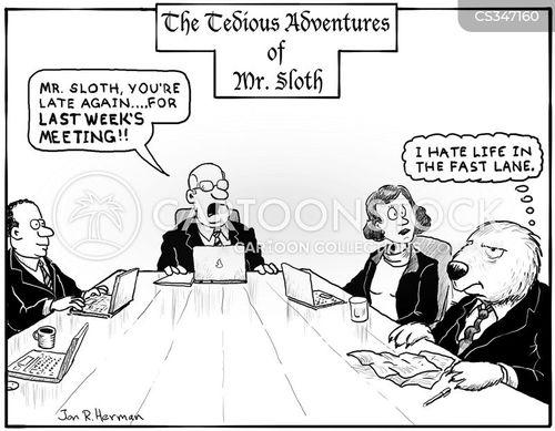 office meeting cartoon