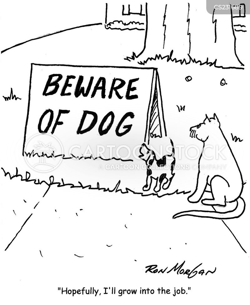 security dogs cartoon