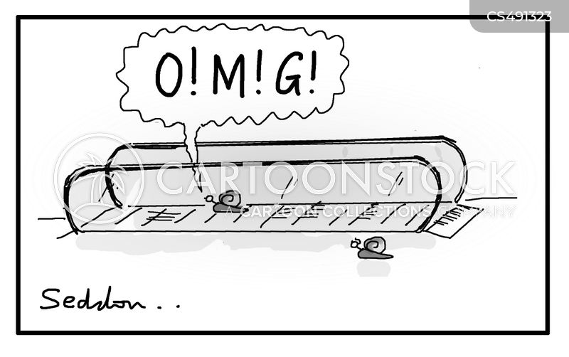 moving walkways cartoon