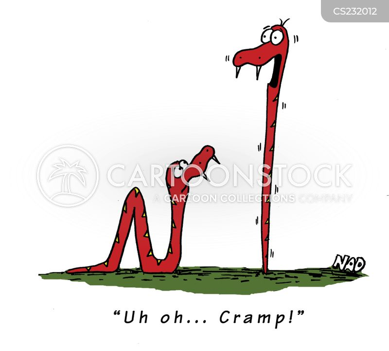 muscle spasms cartoon