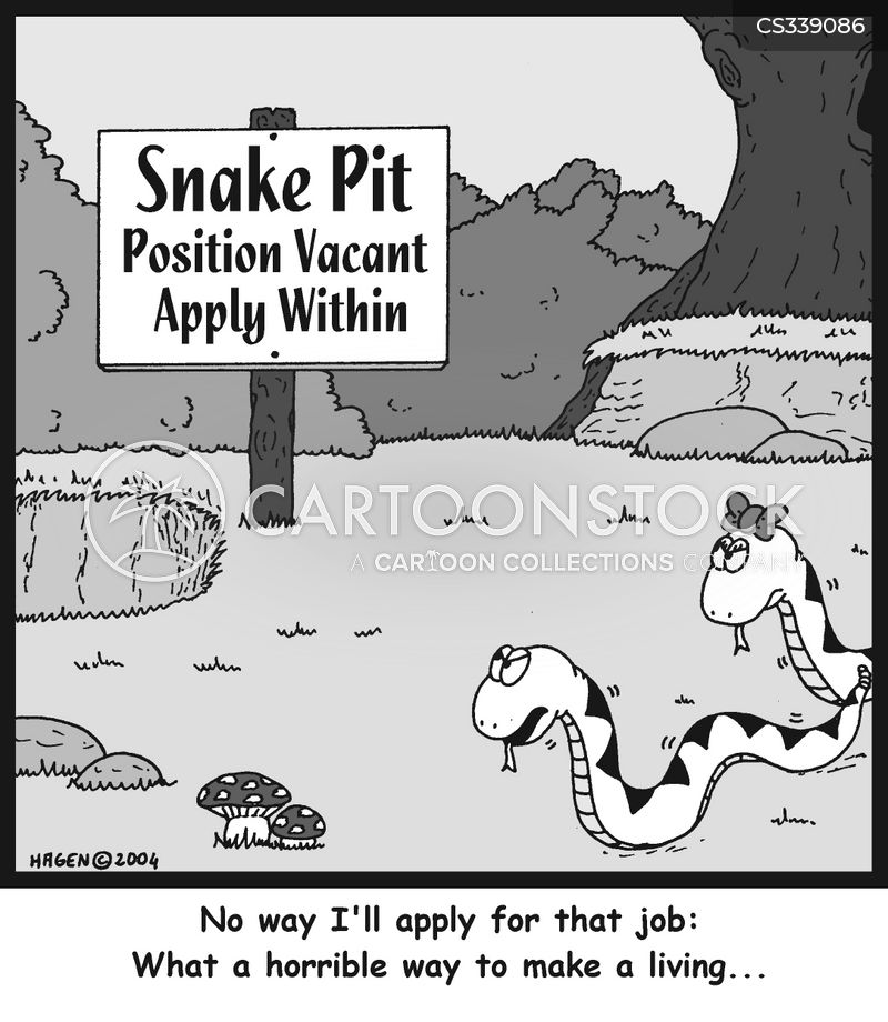 snake pit cartoon