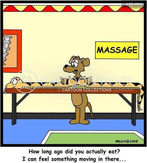 massaging cartoon