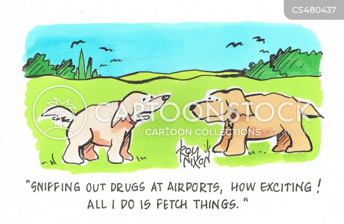 drug dog cartoon
