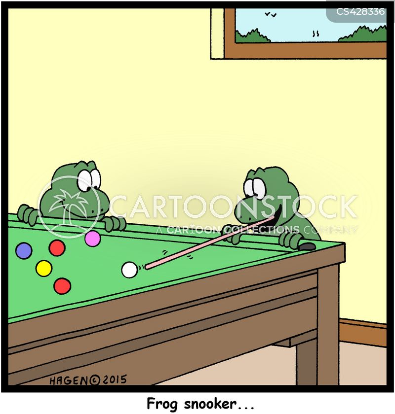 snooker balls cartoon