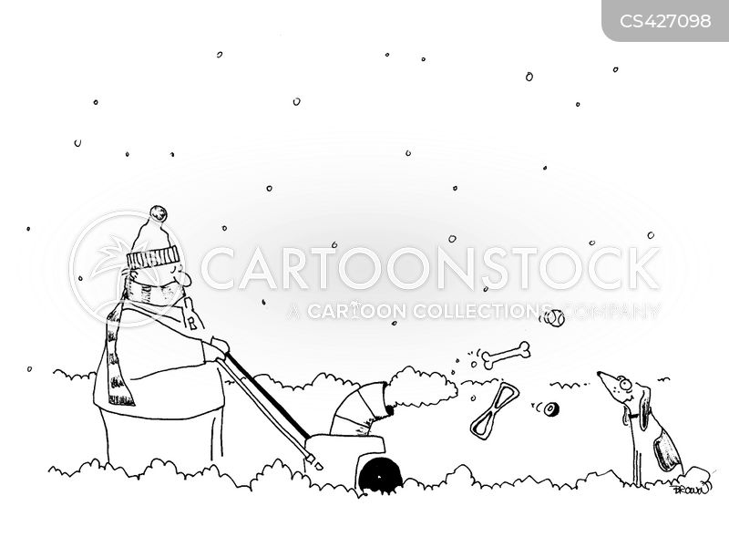 Showing post & media for Cartoon man with snow blower | www ...
