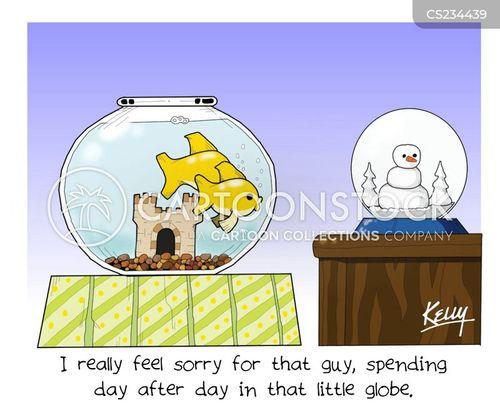 snowglobe cartoon