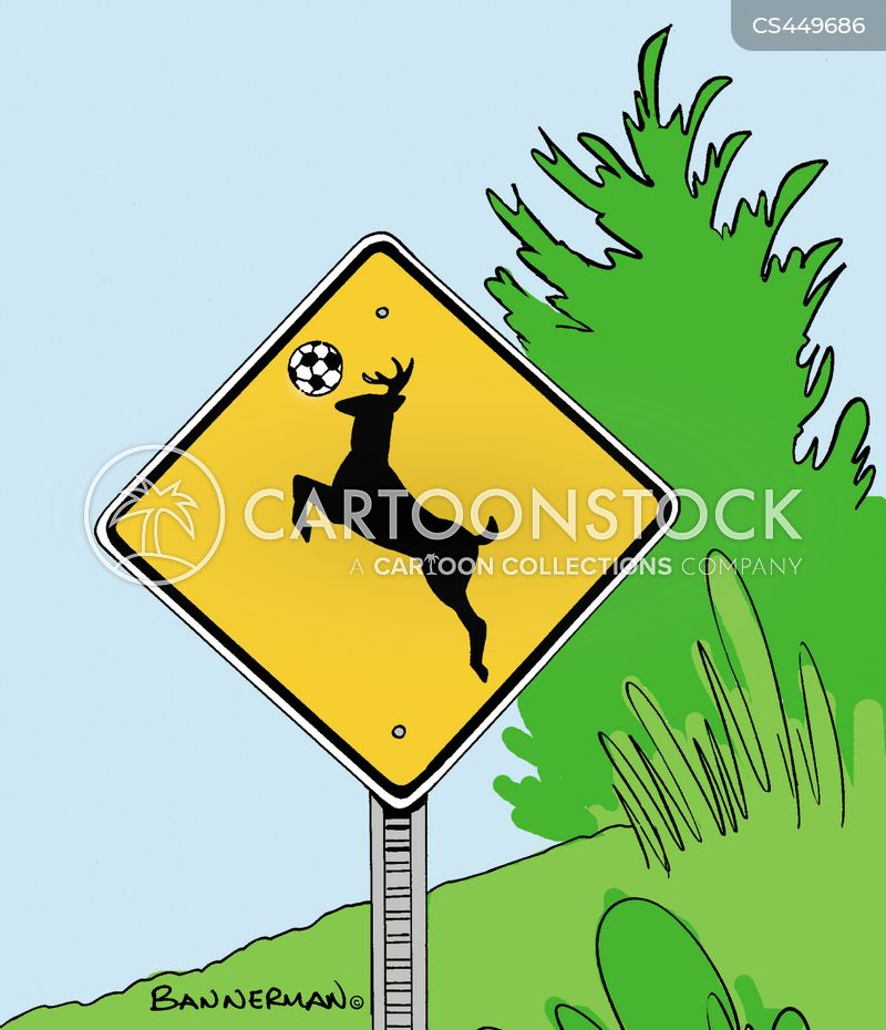 caution sign cartoon