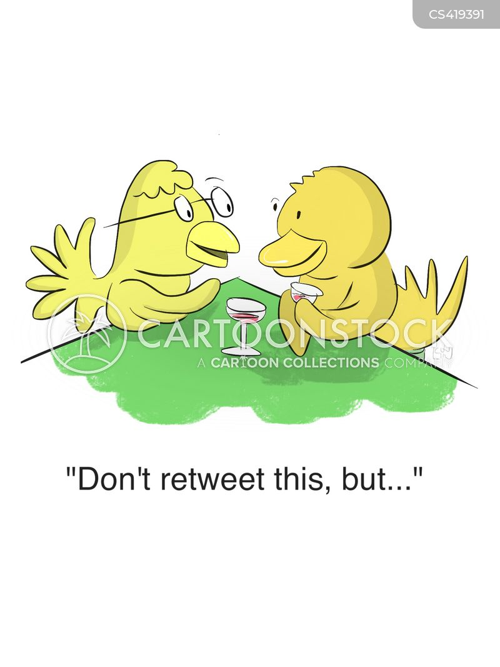 retweeting cartoon