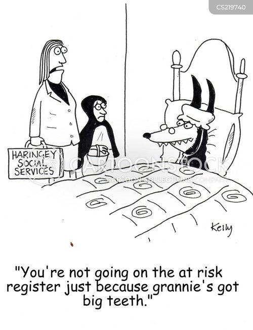 at risk cartoon
