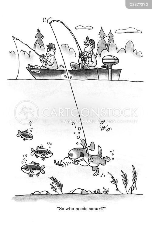 finding fish cartoon