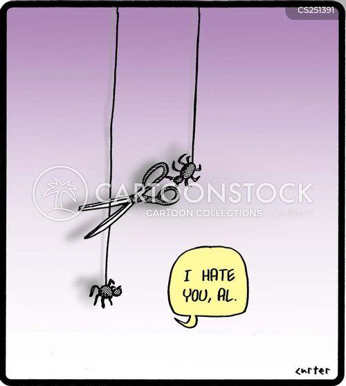 arachnophobia cartoon