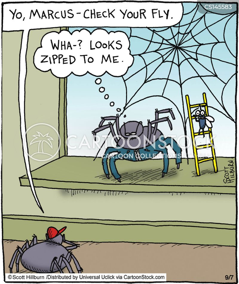arachnophobic cartoon