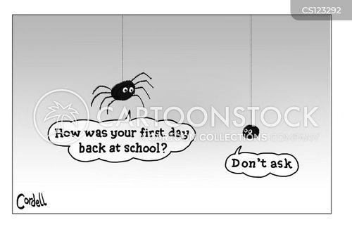 first days cartoon