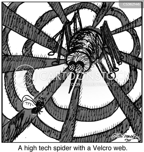 velcro webs cartoon