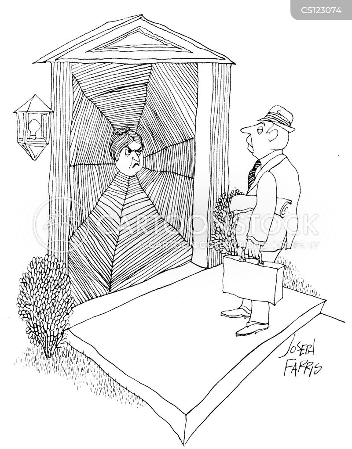 double glazing salesman cartoon