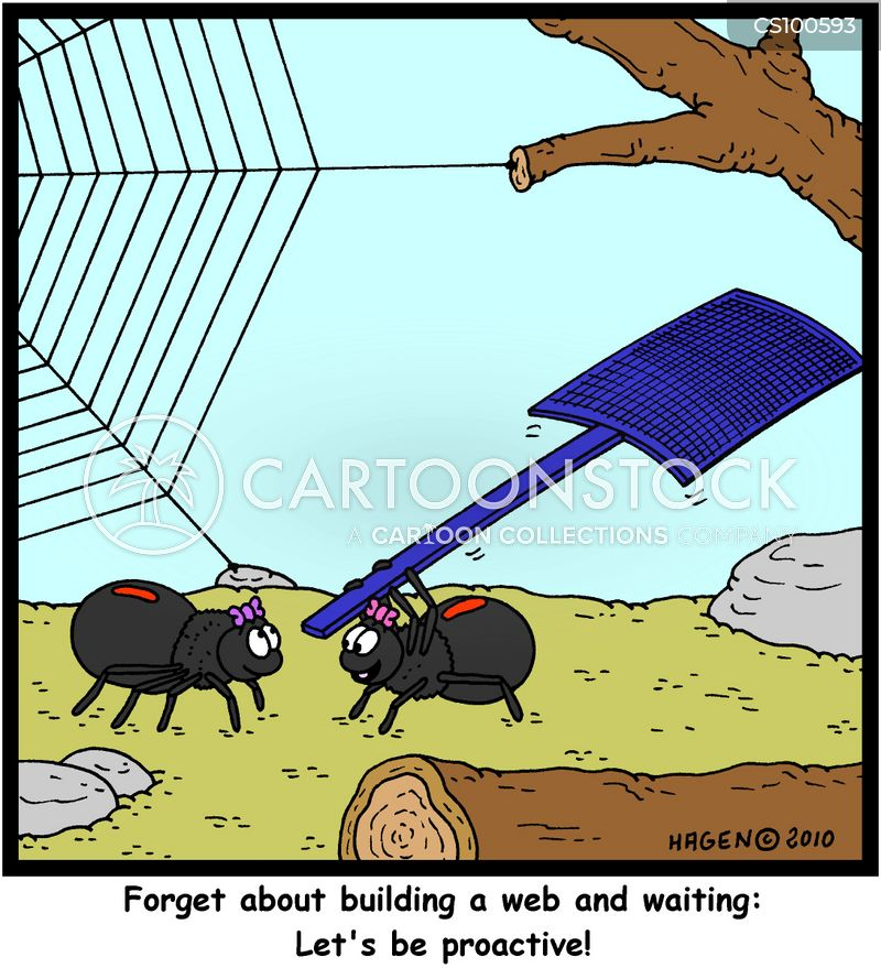fly catching cartoon