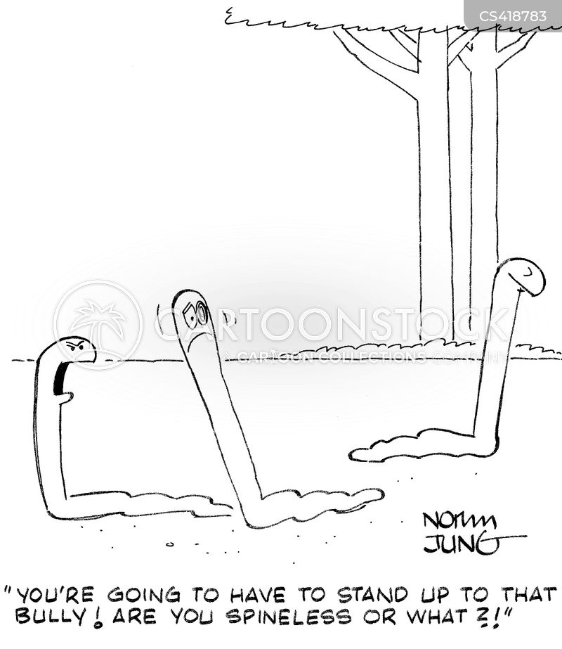 standing up for yourself cartoon