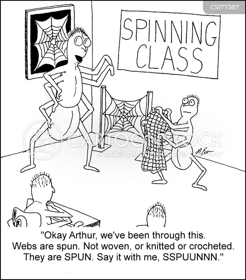 textile lesson cartoon