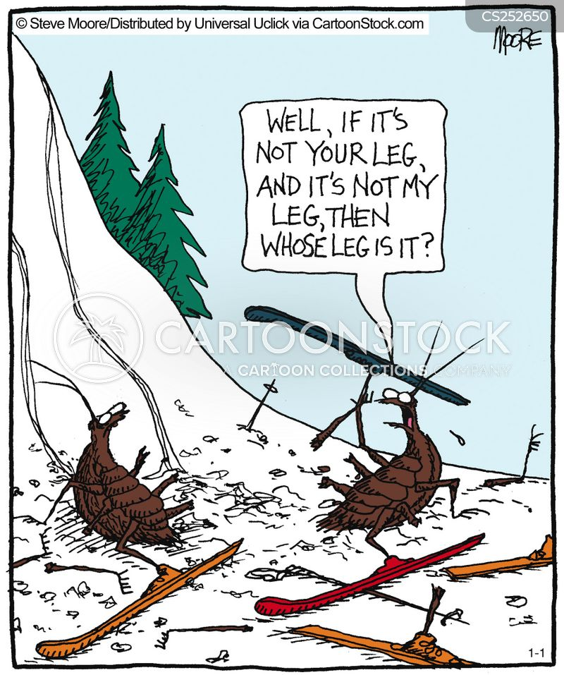 skiing trip cartoon