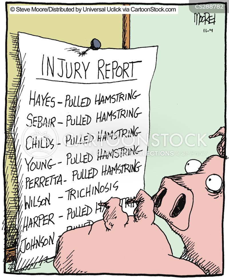 sport injuries cartoon