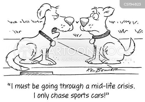 mid-life crises cartoon