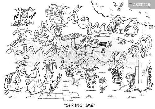 springing cartoon