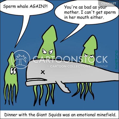 sperm whales cartoon