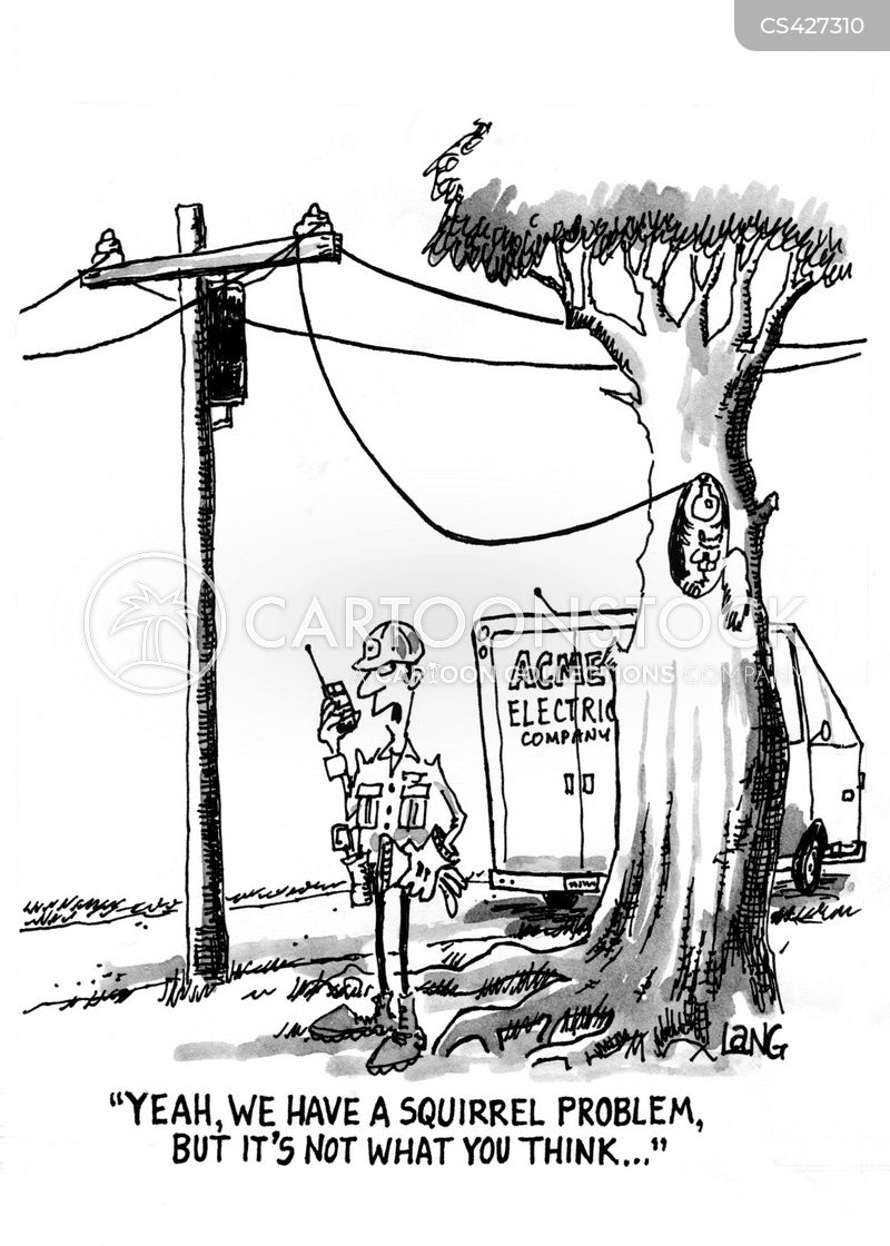 electricity line cartoon