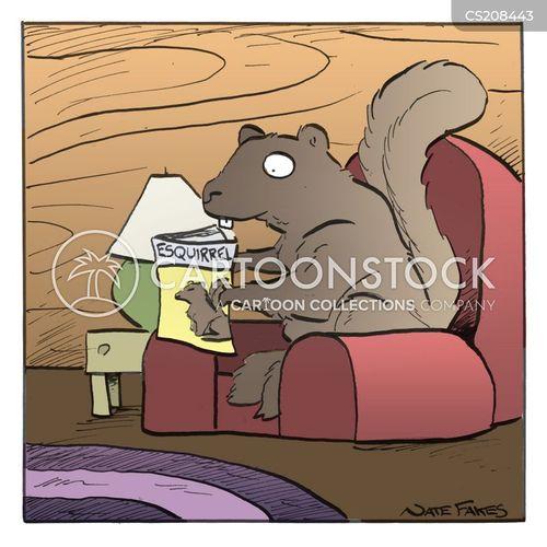 reading materials cartoon