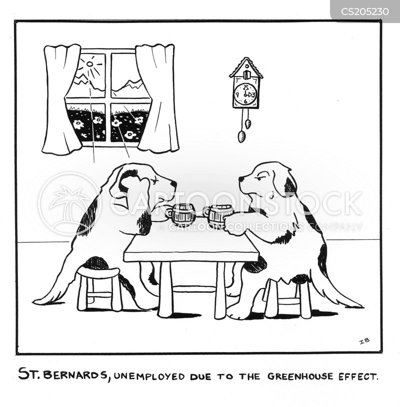 st bernard cartoon