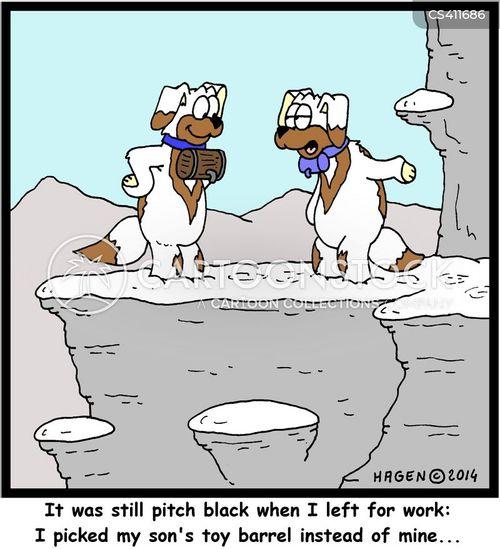 mountain rescue cartoon