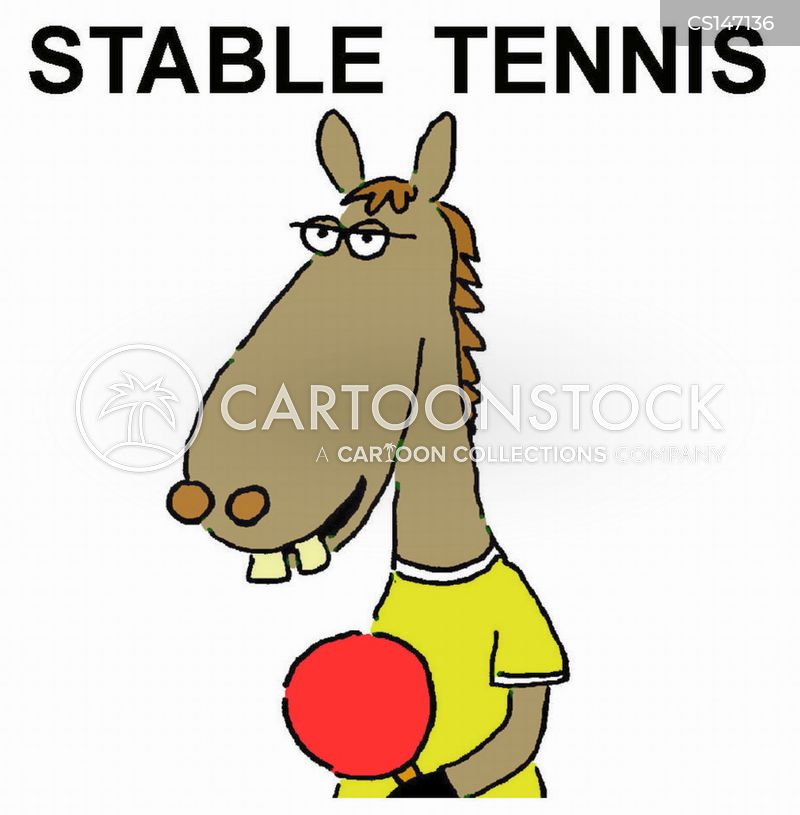 table tennis competition cartoon