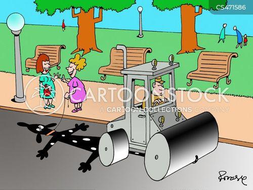 road roller cartoon