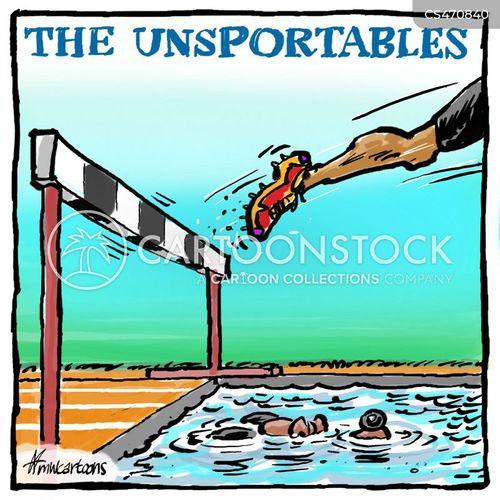 athletics competitions cartoon