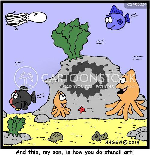 stencils cartoon