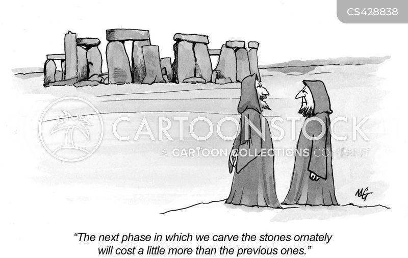 archeological site cartoon