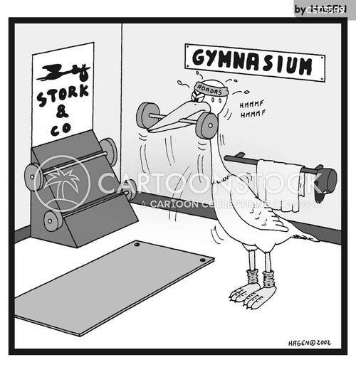 weight training cartoon