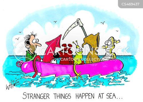 rubber dinghy cartoon