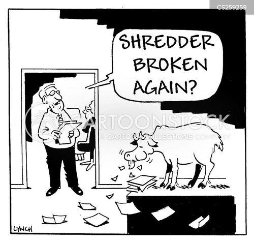 Paper shredder problems