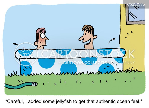 jellyfish stings cartoon