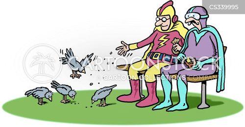 feed the birds cartoon