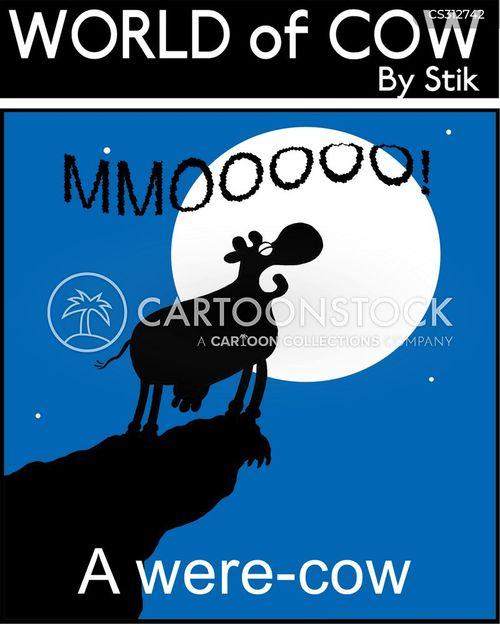 were-wolf cartoon